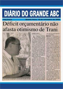 Fotocópia da matéria no Diário do Grande ABC