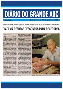 Fotocópia da matéria do Diário do Grande ABC