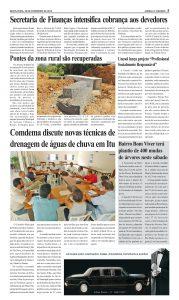 Fotocópia da matéria no jornal O Cidadão, de Itu